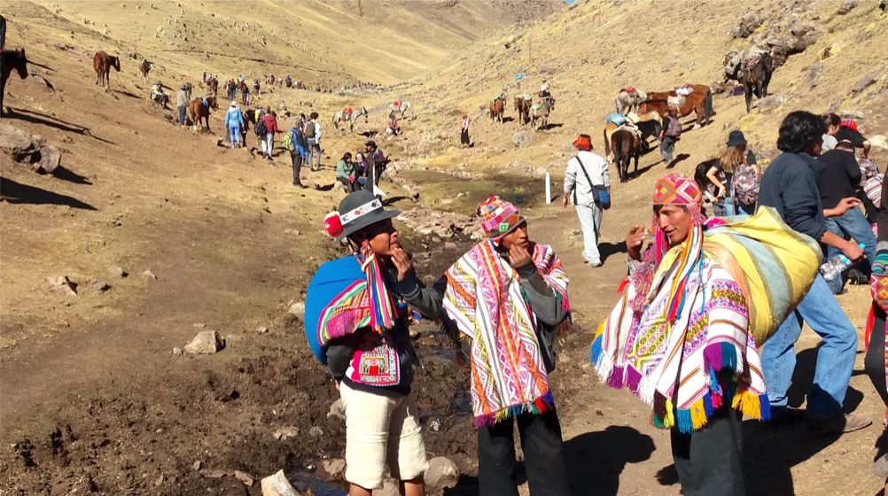 Quechuans in valley